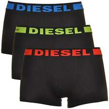 DIESEL Mens 3-Pack Boxer Brief, Short Trunk UMBX-Kory, Black with Red-Green-Blue
