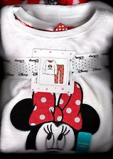 Offical Disney Girls Long Sleeve Minnie Mouse Pyjama's PJ's Fleece Gift Pack Set