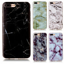 Glossy Back Granite Marble Effect TPU Case Cover For Apple iPhone 5 6 6S 7 Plus