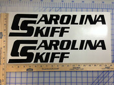 CAROLINA SKIFF BOAT DECALS 18 COLORS AVAILABLE EMBLEM PAIR HIGHEST QUALITY
