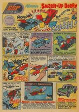 """SMASH UP DERBY 1972 = Toy Cars SSP = POSTER Not Comic Book = 7 SIZES 19"""" - 36"""""""