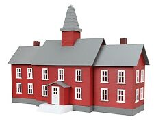 Model Power-Built-Up Buildings - Lighted w/2 Figures -- Little Red School House