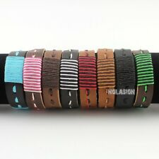 Tribal Unisex Genuine Leather Bracelet Ethnic Cuff Jewelry Wristband Cool Gift