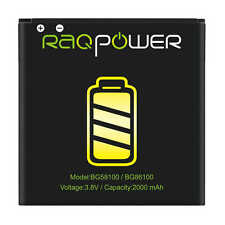 RAQPower Durable Li-ion Battery BG58100 BG86100 2000 mAh For HTC Amaze 4G