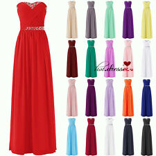 Stock Hot Formal Long Wedding Bridesmaid Dress Evening Prom Party Ball Gown 6-20