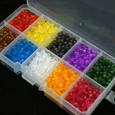 4mm Acrylic Plastic Bicone Faceted Spacer Beads  & Box DIY Jewelry Making W110
