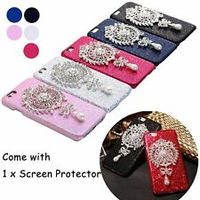 Fashion Bling Rhinestone Pearl Pendant Hard Cover Case for iPhone 6 6S/ 6Plus