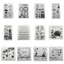 Various Type Transparent Clear Rubber Stamp Sheet Cling Scrapbooking DIY Crafts