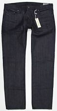 NWT Diesel Safado ORZ35 Slim Straight Black Denim Jeans Button Fly Made in USA