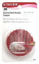 Singer Assorted Hand Needles in Compact with Built In Needle Threader