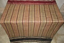 UK Pure silk Antique Vintage Sari Saree WHOLESALE 4y Su 1556 Wx Cream #ABHOP