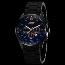 Men's Military Quartz Analog Watch Silicone Band Date Sport Water Resistant G2J2