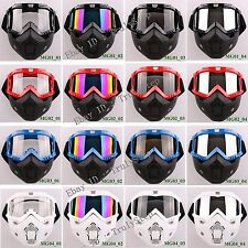 Full Face Protection RETRO Motorcycle Vespa Paintball Sport Goggles & Mask