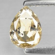 0.67 cts Diamond Pear Shape Fancy Yellow Color Loose Diamond Natural F631