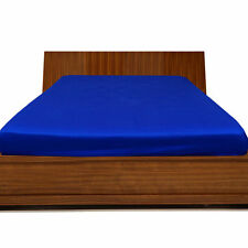 Extra Deep Pocket 1 Qty Fitted Sheet 1000 TC Egyptian Cotton All Size Royal Blue