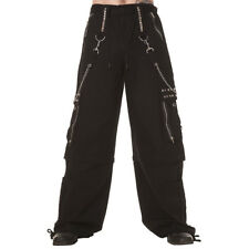 Official Dead Threads Black Chain Zip & Studs Trousers - Gothic Clothing