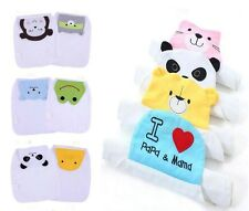 Cute Baby Infant Cotton Baby Wipes sweat Gauze Mat Back Towels Muslin Washcloth
