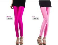 Tights Womens High Waisted Candy Colors Shiny Pants Footless