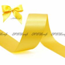 Yellow Gold Double Sided Satin Ribbon 3mm 6mm 10mm 16mm 22mm 28mm 50mm