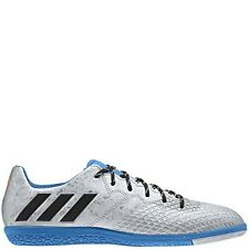 adidas Messi 16.3 Indoor Silver/Blue Indoor Soccer Shoes - SoccerGarage