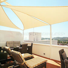 Heavy Duty Steel Wire Sun Shade Sail Canopy Awning Patio Pool Outdoor Top Cover