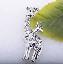 Wholesale Tibetan silver sika deer shaped fine charm pendant craft 55x21mm #5135