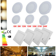 6W-21W LED Recessed Ceiling Panel Down CREE Light Bulb Lamp Fixture Round Square