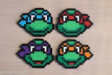 Ninja Turtle Pixel Art Perler Bead Sprites from the Teenage Mutant Ninja Turtles