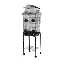 High House Top for Canary Cockatiel Parakeet Lovebird Finch Bird Cage with Stand