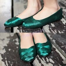 Silk Womens Loafers Ladies Moccasin Ballet Flats Sweet Satin Pumps Shoes Casual