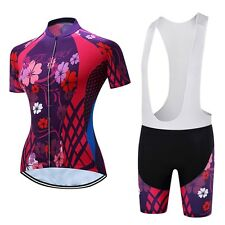 Teleyi Women's Cycling Jersey Set Summer Bicycle Clothing Breathable Bike Jersey