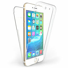 360° Front and Back Clear Full protection Gel Skin Case Cover For iPhone 6/6s UK