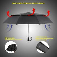 Unisex Portable Umbrella Auto Open&Close Windproof Double Canopy 10 Ribs O8Y5