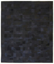 NEW Patched Black Cow Hide Rug