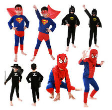 Halloween Costume Party Cosplay Fancy Suit Boy Kid Toddler Superman Clothing 3-7