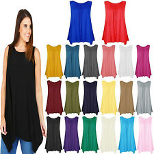 New Ladies Womens Girls Sleeveless Camisole T Tank Shirt Tee Tops Hanky Vest TOP