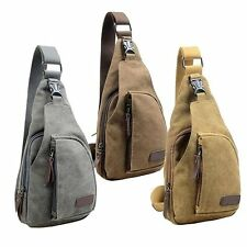 Canvas Military Hiking Messenger Travel Chest Pack Backpack Sling Shoulder Bags
