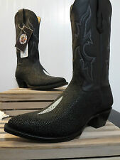 Star Boots Men's Black Stingray + Deer Triad Boot MS9003 Size 8.5 EE, NEW