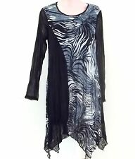 India Boutique Long Sleeve Tunic Style Long Top /Dress -FREE SIZE, ONE SIZE, NWT