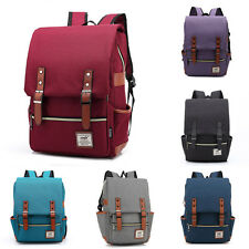 New Womans Mens Canvas Backpack Rucksack Travel Bags Student Shoulder Backpacks