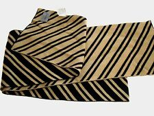 Mens Old Navy Scarf Horizontal Striped Avail Black/ Gold or Blue /Green New