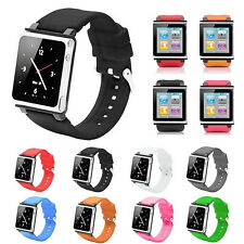 Watch Band Silicone Wrist Strap Case Cover For Apple iPod Nano 6 6th Generation