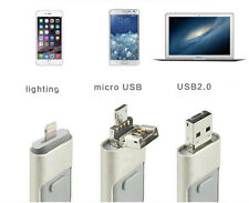 3 in1  256GB Flash Drive U Disk Memory Stick USB Drive IOS Android i Pad PC Lot