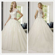 Charming white/ivory Tulle Wedding Dress Bridal Gown Custom size6-8-10-12-14-16+