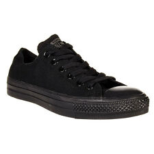 Converse Chuck Taylor Star Black Mono Ox Top Skate Mens Womens Shoes Size 4-13