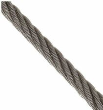 """T316 Stainless Steel Cable Wire Rope 3/16"""" 7x19  (15-25-35-50-75FT) Marine Grade"""