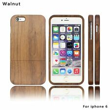 New Natural Wooden Bamboo Cover Wood Back Shell Apple for iPhone Grain Wood
