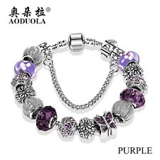 Fashion Jewelry Butterfly Charm Bracelets & Bangles For Women Antique Silver Cry