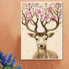 DIY 5D Diamond Painting Sika Deer Embroidery Cross Stitch Craft Home Decor New