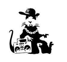 Gangsta Rat Banksy Wall Art Room Decal Vinyl Sticker - Buy 1 Get 1 HALF PRICE